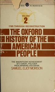Cover of: The Oxford History of the American People | Samuel Eliot Morison