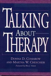 Cover of: Talking about therapy | Donna D. Comarow
