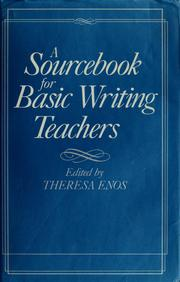 Cover of: A Sourcebook for basic writing teachers |