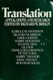 Cover of: Translation |
