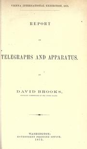 Cover of: Report on telegraphs and apparatus |