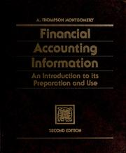 Cover of: Financial accounting information by A. Thompson Montgomery