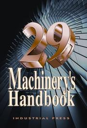 Cover of: Machinery's Handbook by Erik Oberg