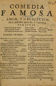 Cover of: Amor, y obligacion by Agustín Moreto