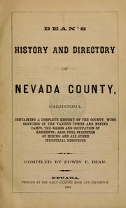 Cover of: Bean's history and directory of Nevada County, California by