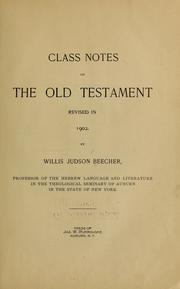 Cover of: Class notes on the Old Testament |