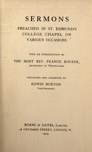 Cover of: Sermons preached in St. Edmund's College Chapel on various occasions by