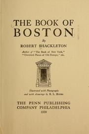 Cover of: The book of Boston by Shackleton, Robert