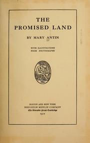 Cover of: The promised land by Mary Antin