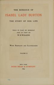 Cover of: The romance of Isabel, Lady Burton | Burton, Isabel Lady