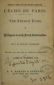 Cover of: L' écho de Paris | James Henry Worman