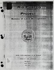 Cover of: Rio Puerco Project : [New Mexico | United States. Bureau of Land Management.