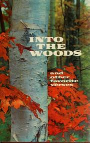 Cover of: Into the woods, and other favorite verses by