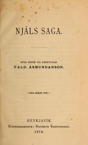 Cover of: Njáls saga by