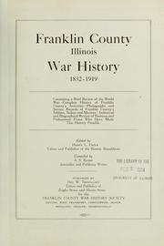 Cover of: Franklin County, Illinois, war history, 1832-1919 | S. Sylvester Baird