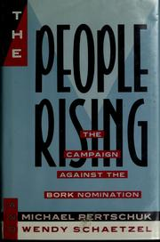 Cover of: The people rising | Michael Pertschuk