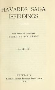 Cover of: Hávards saga Ísfirdings by