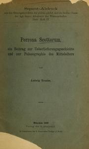 Cover of: Perrona Scottorum by Ludwig Traube