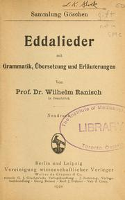Cover of: Eddalieder |