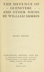 Cover of: The defence of Guenevere | William Morris