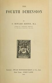 Cover of: The fourth dimension | Charles Howard Hinton