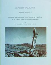 Cover of: Geological and geophysical investigations of kimberlite in the Laramie Range of southeastern Wyoming by W. Dan Hausel