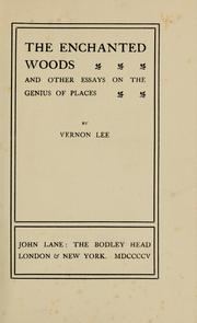 Cover of: The enchanted woods | Vernon Lee