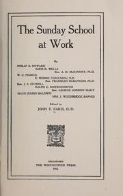 Cover of: The Sunday school at work by John T. Faris