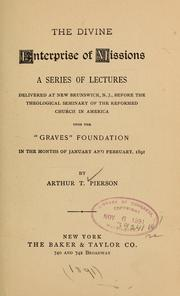 Cover of: The divine enterprise of missions by Arthur T. Pierson
