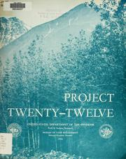 Cover of: Project Twenty-Twelve | United States. Bureau of Land Management.