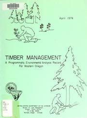 Cover of: Timber management | United States. Bureau of Land Management. Oregon State Office