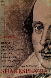 Cover of: Plays (Hamlet / King Henry IV. Part 1 / King Lear / Much Ado About Nothing / Tempest) | William Shakespeare