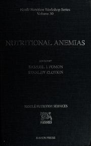 Cover of: Nutritional anemias by