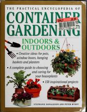 Cover of: The practical encyclopedia of container gardening by