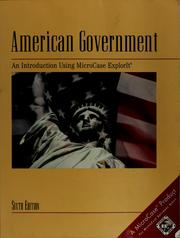 Cover of: American government |