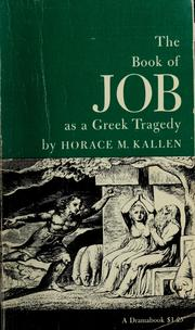 Cover of: The book of Job as a Greek tragedy |