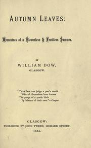 Cover of: Autumn leaves by William Dow