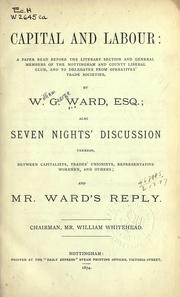Cover of: Capital and labour | Ward, William George