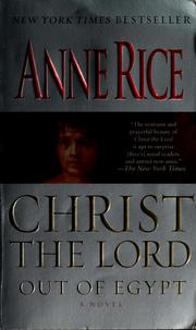 Cover of: Christ the Lord by Anne Rice