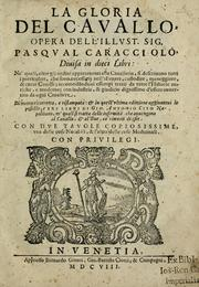 Cover of: La gloria del cavallo | Pasqual Caracciolo