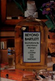 Cover of: Beyond Bartlett by