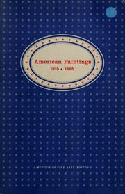 Cover of: American paintings, 1815-1865 | Museum of Fine Arts, Boston.