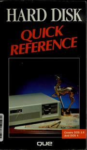 Cover of: Hard disk quick reference by Pete Moulton