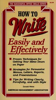 Cover of: How to write easily and effectively |