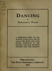 Cover of: Dancing | Marguerite Wilson