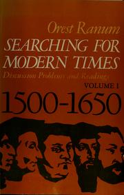 Searching for modern times