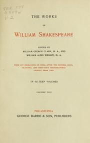 Cover of: The works of Shakespeare | William Shakespeare