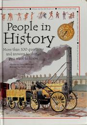 Cover of: People in history |