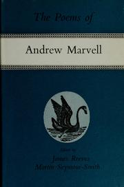 Cover of: Poems | Andrew Marvell