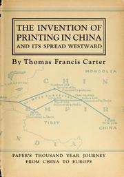 #freebooks – [PDF, ePub, DAISY] The Invention of Printing in China and its Spread Westward, by Thomas F. Carter
